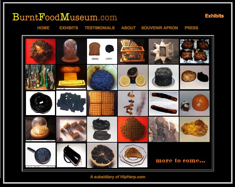 Burnt Food Museum Exhibits