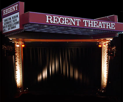Regent Theatre Stage and Marquee