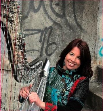 Harpist Sabine Meijiers