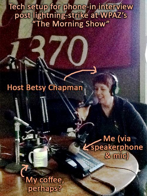 DHC & Betsy Chapman on live radio