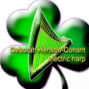 Deborah Henson-Conant Electric Harp (on a Shamrock)