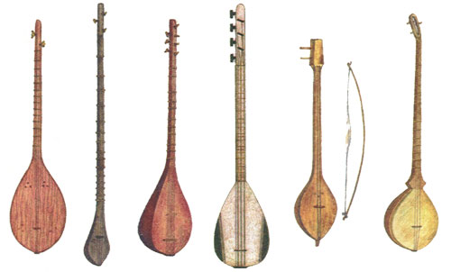 Various Saz's - one of the instruments Steve used to accompany his guitar break