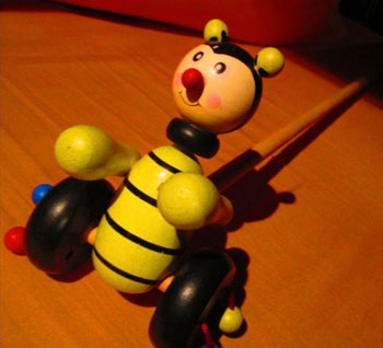 Bee toy from Belrade, Serbia