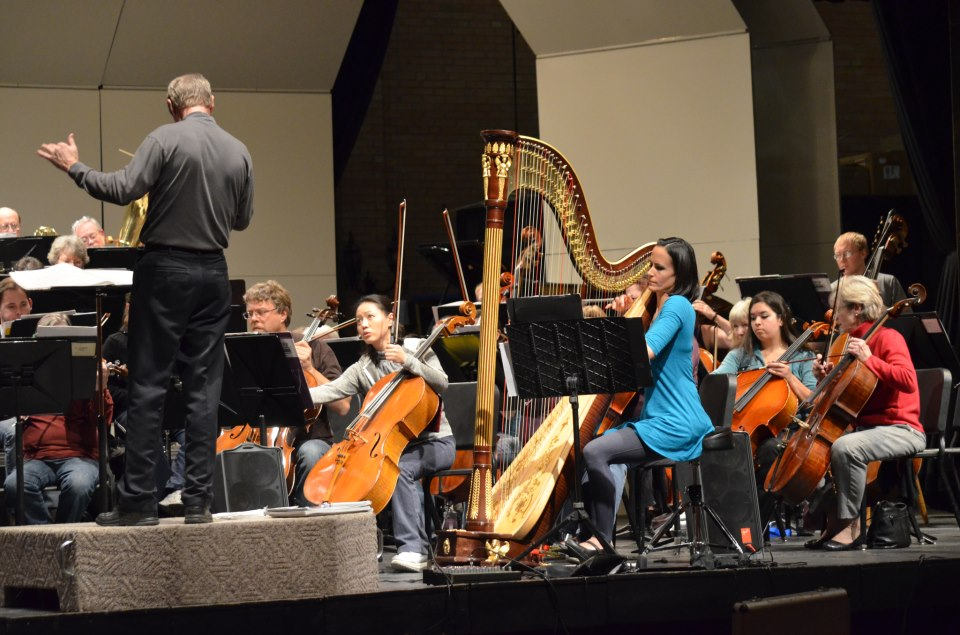 Elise Helmke in Rehearsal with the Grand Junction Symphony