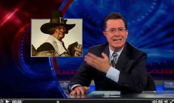 Colbert reports on Boston