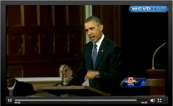 Obama speaks to Boston