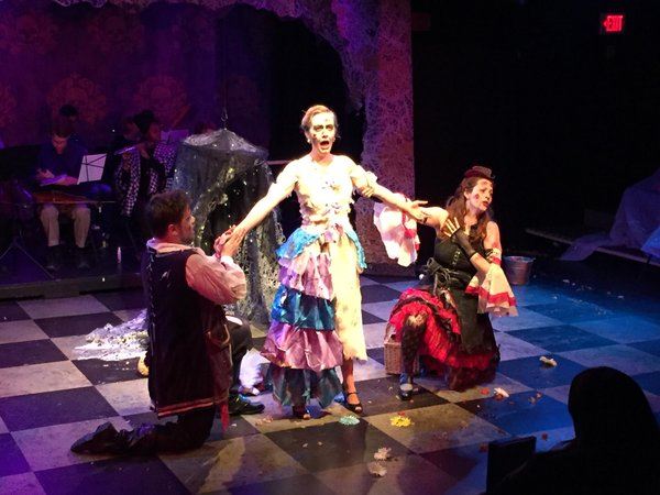 Menage a trois zombie-style in La #zombiata opera dress rehearsal