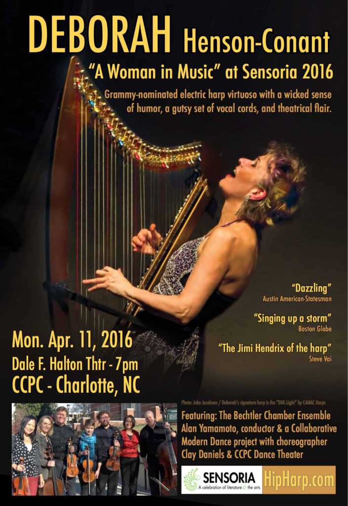 Performance at CPCC's Sensoria Mon. Apr. 11th