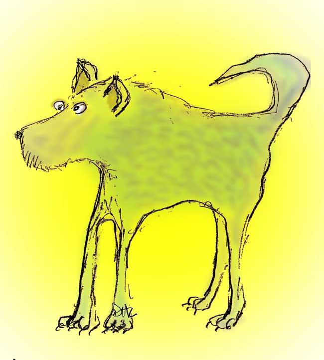 dog-blue-on-yellow
