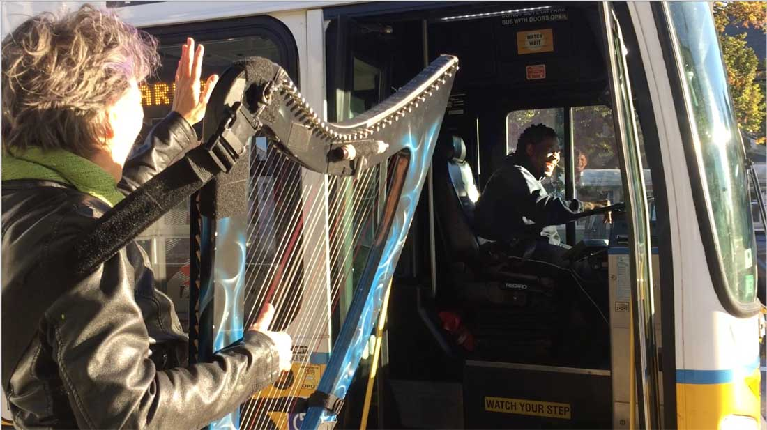 5 reasons to play harp at a Bus Stop